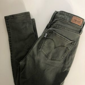 LEVI STRAUSS Olive High Rise Skinny (sz 2 or 26)